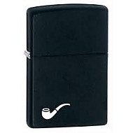 Zippo Pipe Lighter Matte Black